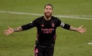 Ramos after scoring against Betis. EFE
