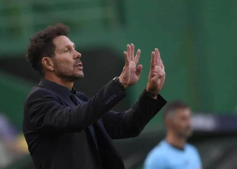 Simeone's interesting answer when he was asked about Messi. EFE