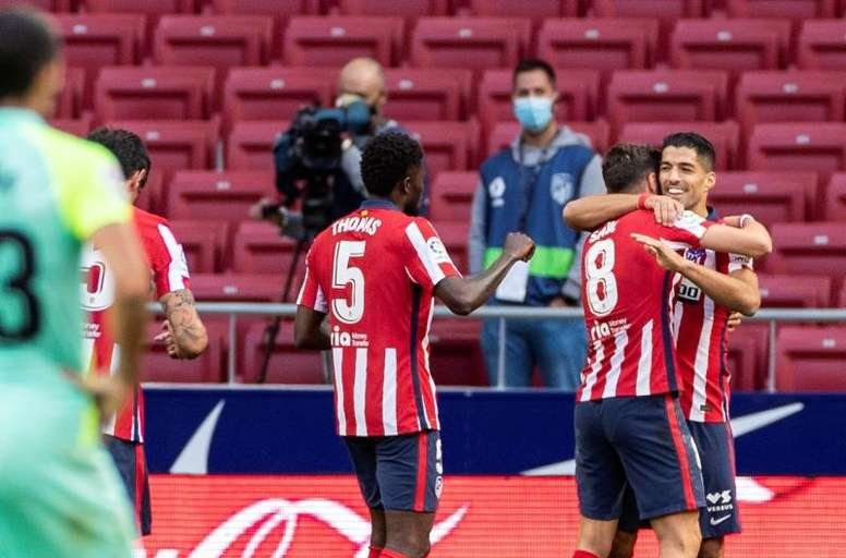 El penalti, el punto negro del Atlético en su goleada. EFE