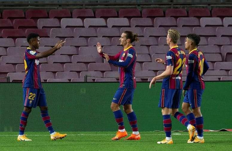 Barça estreia com goleada nessa LaLiga. EFE/ Enric Fontcuberta