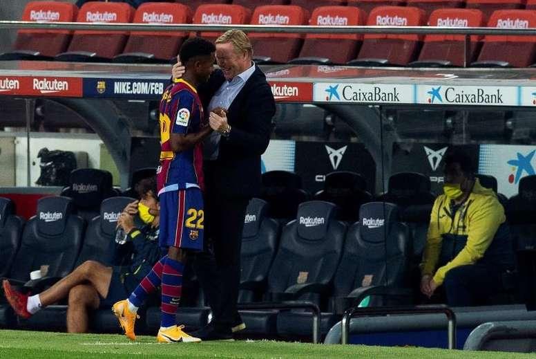 Koeman lleva los brotes verdes Camp Nou. EFE
