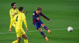 Griezmann lleva solo dos goles en los 22 últimos partidos con el Barça. EFE