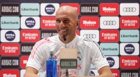 Zidane en conférence de presse. EFE