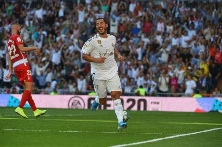 Hazard, principal novedad en la lista del Madrid ante el 'Gladbach. EFE/Archivo
