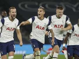 Tottenham avançou para as quartas de final da Copa da Liga Inglesa. EFE/EPA/Matt Dunham