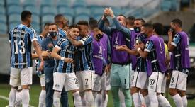 Grêmio confirmou vantagem contra o Cuiabá e avançou na Copa do Brasil. EFE/Buda Mendes