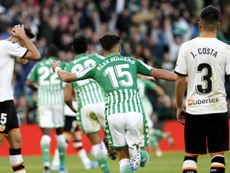 El Valencia es el claro dominador de los partidos contra los verdiblancos. EFE