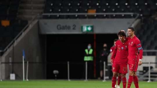 Joao Félix y Cristiano Ronaldo, convocados. EFE