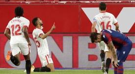 El Sevilla venció por la mínima a un Levante que apenas concedió ocasiones de peligro. EFE