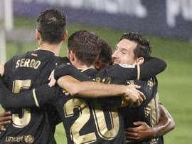 La victoria del Barcelona en Vigo, noticia del día. EFE
