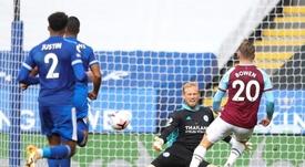 El West Ham derrotó al Leicester. EFE