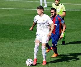 Fede Valverde, eleito o melhor jogador do Real em outubro. EFE
