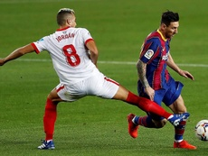 El Sevilla empató en el Camp Nou. EFE/Alberto Estéves