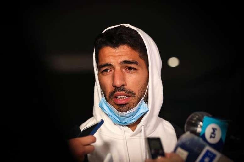 Luis Suárez took his B1 exam. EFE