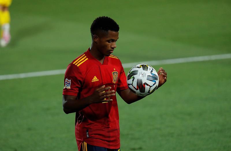 Ansu Fati, con la Selección Española