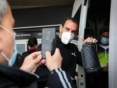 Godín evita usar la excusa de las bajas ante Chile. EFE/Raúl Jiménez