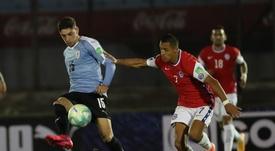 Alexis Sánchez ha llegado tocado a la concentración de Chile. EFE
