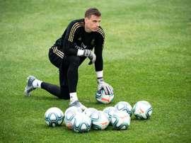 Lunin, débuts tant attendus avec le Real Madrid cette semaine ? EFE