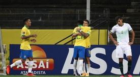 Coutinho también se luce con Brasil. EFE