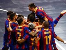 El Barça consigue su tercera corona europea. EFE/Enric Fontcuberta