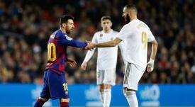 Benzema chegou em uma impressionante marca ao marcar contra o 'Gladbach. EFE/ Alberto Estevez
