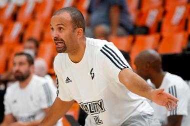 El entrenador del Asvel Villeurbanne, T. J. Parker. EFE/Miguel Ángel Polo/Archivo