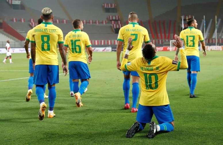 Ronaldo rend hommage à Neymar. afp