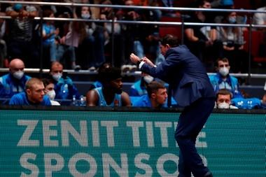 El entrenador del Zenit Xavi Pascual. EFE/EPA/ANATOLY MALTSEV