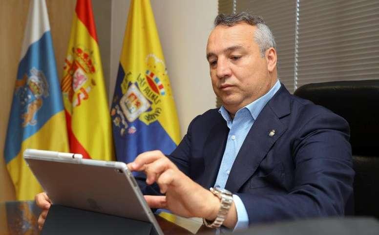 El presidente de Las Palmas habló sobre la 'Operación Salida'. EFE