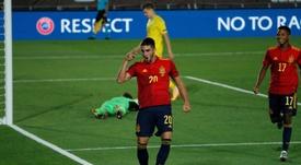 Ferrán Torres marcó un triplete en la goleada a Alemania. EFE