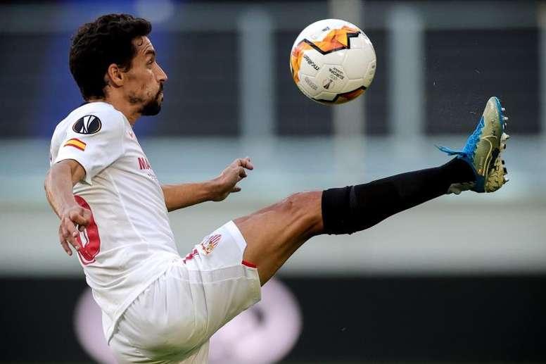 Jesús Navas es duda para jugar en Granada. EFE/Archivo