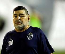 Diego Maradona says he dreams about scoring again. EFE