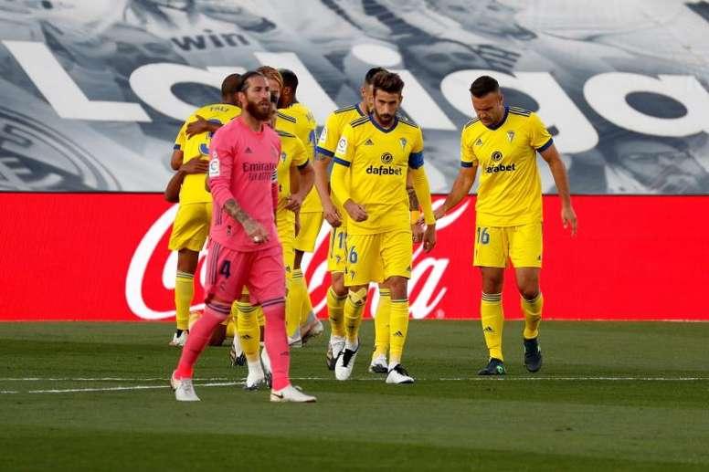 Le Real Madrid chute face à Cadiz. afp