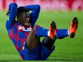 Ousmane Dembélé at Camp Nou. EFE