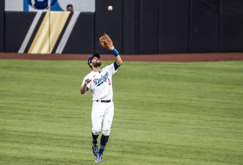 El segunda base Chris Taylor de los Dodgers de Los Ángeles. EFE/EPA/TANNEN MAURY/Archivo