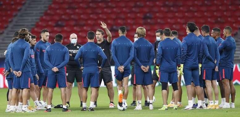 El Sevilla, ante su regreso a la Champions League. EFE