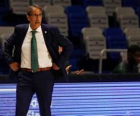 El entrenador del Unicaja, Luis Casimiro. EFE/Jorge Zapata/Archivo