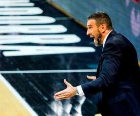 Ibon Navarro, entrenador del MoraBanc Andorra. EFE / Fernando Galindo/Archivo