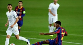 Ansu Fati é um dos grandes destaques entre os jovens do Barcelona. EFE/Alberto Estévez