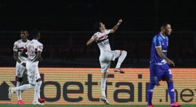 Pablo marcou dois dos cinco gols do São Paulo. EFE/Fernando Bizerra