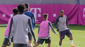 Bayern Munich trained normally at their sports complex. EFE