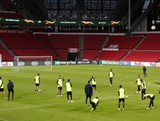 Yangel Herrera apeló a los detalles para sorprender al PSV. EFE/Jeroen Putmans