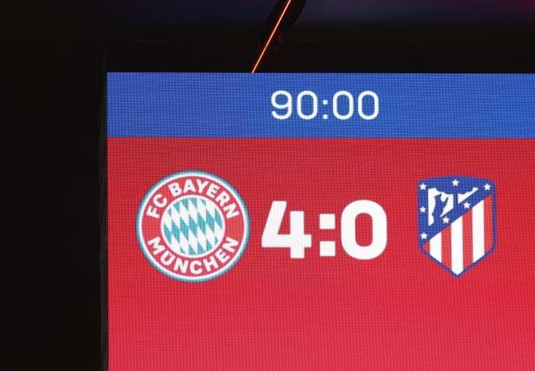 Simeone señaló a la contundencia para explicar la goleada del Bayern. EFE