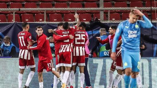Koka deja mudo al Olympique de Marsella. EFE/Panagiotis Moschandreaou