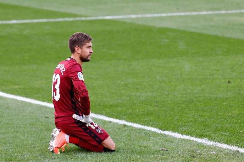 Aitor Fernández no estará ante el Valladolid. EFE