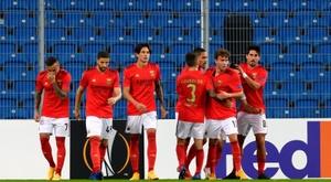 Benfica começou a Liga Europa com uma impressionante vitória.  EFE/EPA/Jakub Kaczmarczyk