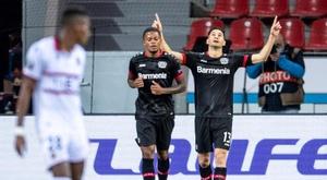 Bayer Leverkusen começou essa Liga Europa dando trabalho. EFE/EPA/MARIUS BECKER