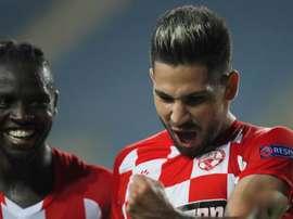 Agudelo vio puerta en el debut en la Europa League. EFE