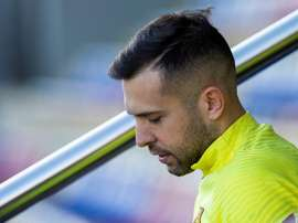Alba is in the squad for the Barca match. EFE
