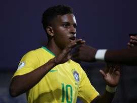Rodrygo é um dos convocados da Seleção Olímpica do Brasil. EFE/Elvis González/Arquivo